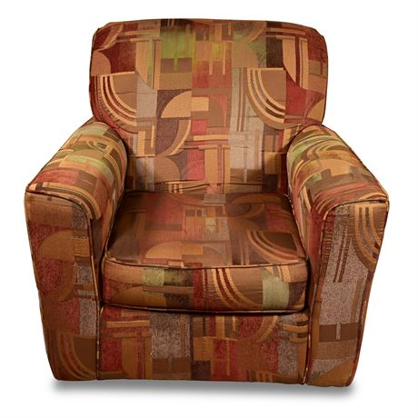 Upholstered Rocking and Swiveling Chair