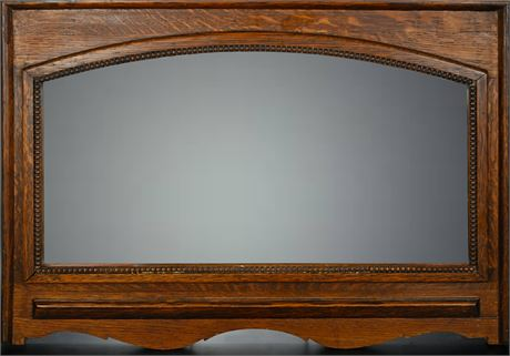 Antique Oak Mirror