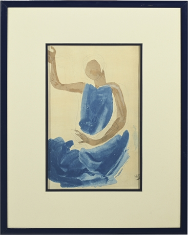"""Auguste Rodin """"Cambodgienne Assise"""""""
