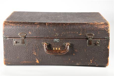 Antique Multnomah Leather Suitcase
