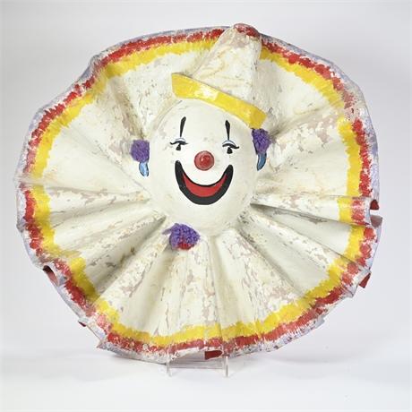 Vintage Papier-mâché Clown Sculpture