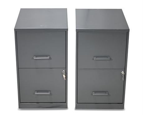 Pair Light Duty File Cabinets