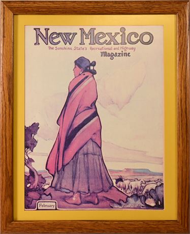 Framed New Mexico Magazine Print