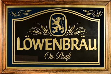 Vintage Löwenbräu Bar Mirror