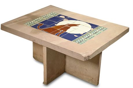 Flagstone Inlaid Cocktail Table