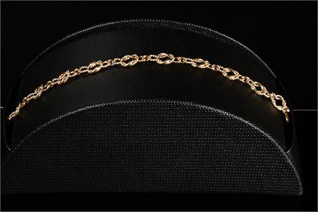 14k Fancy Knot Bracelet
