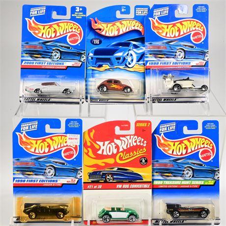 (6) Hot Wheels Die Cast Cars