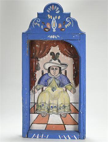 Vintage Mexican Folk Art Santo Niño de Atocha Nicho