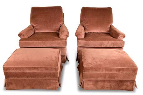 Henredon Lounge Chairs with Ottoman