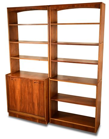 Mid-Century LANE Epoch Modular Bookcase/Record Storage