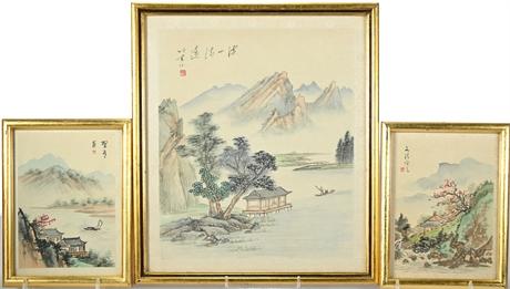 Vintage Japanese Watercolors on Silk