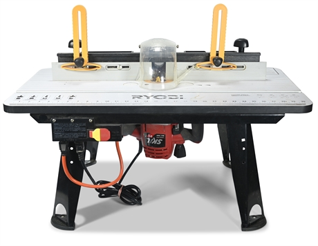 Skil Router with Ryobi Router Table