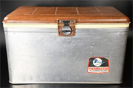 Vintage Aluminum Poloron Thermaster 40 Qt. Ice Chest