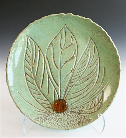 Colleen O'Donnell Hand Carved Leaf Plate