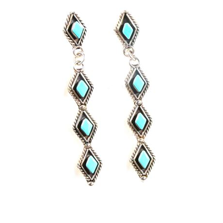 Navajo Turquoise and Sterling Silver Earrings