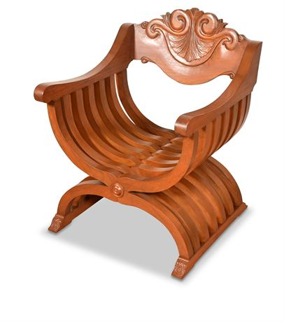 Carved Savonarola Chair