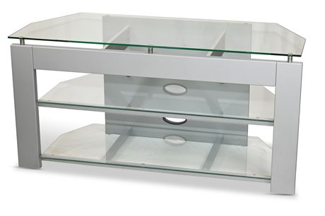 Glass and Metal T.V. Stand