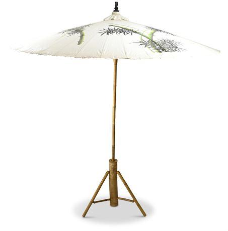 Large Hand Painted Garden Umbrella