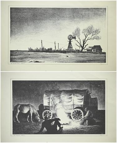 Vintage Peter Hurd Prints by Chevron