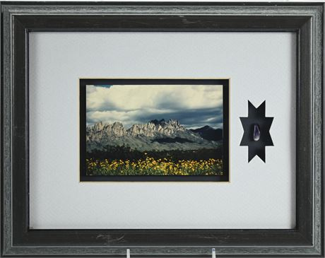 Framed Groves Organ Mountain Photo with Amethyst