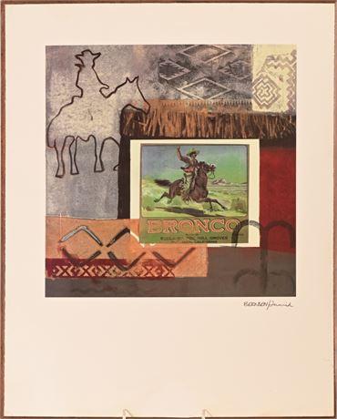 Cowboy Print on Panel
