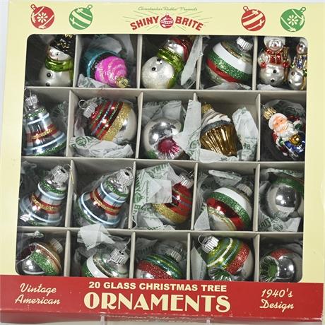 Shiny Bright Retro Ornaments