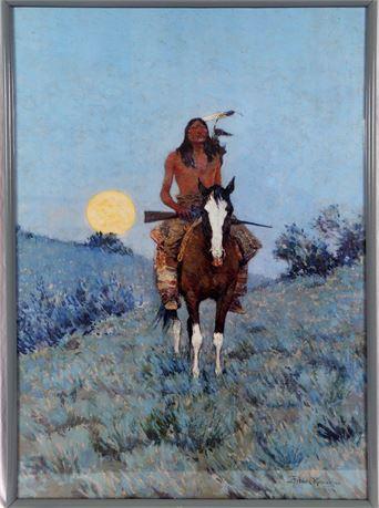 Native American Warrior Print