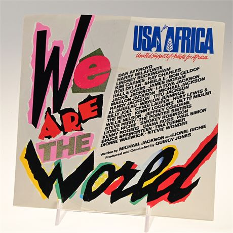 """""""We Are The World"""" 45"""
