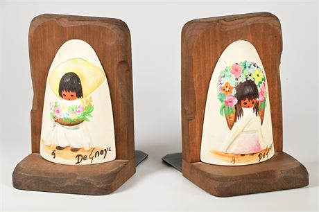 Vintage DeGrazia Bookends