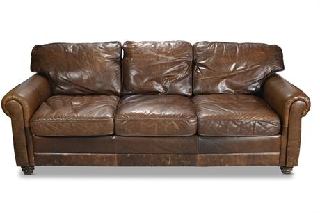 Classic Vintage Leather Sofa