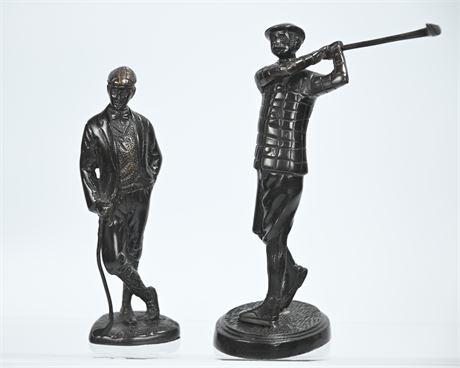 Contemporary Bronze Golf Figures