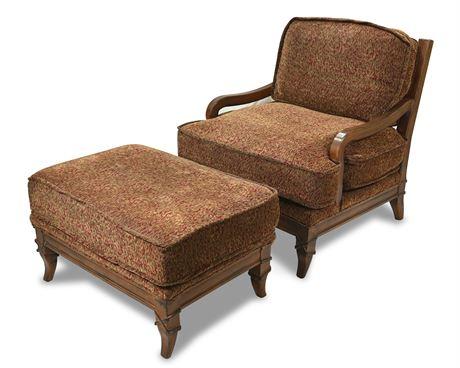 La-Z-Boy Armchair with Ottoman