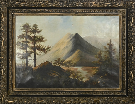 Antique Oil on Stretched Canvas