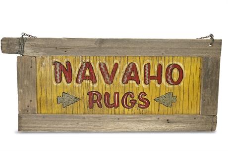 Vintage Navaho Rug Sign