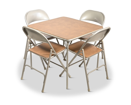 Vintage Samsonite Card Table and Chairs