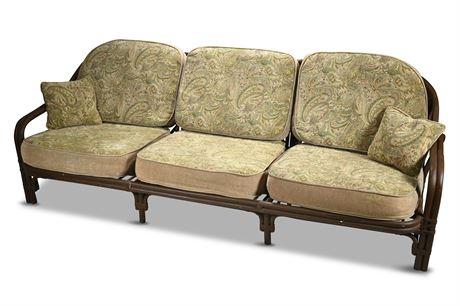 Vintage Rattan Sofa by Puyat