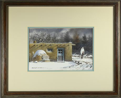 Michael McCullough (B. 1951) Watercolor