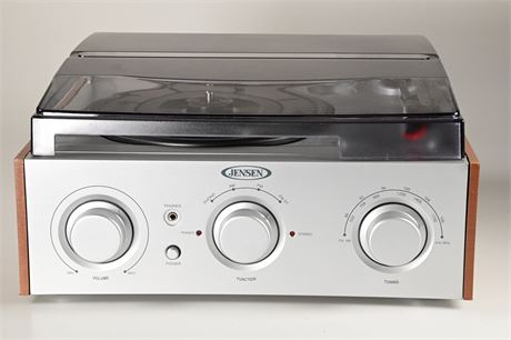 Jensen 3 Speed Turntable Record Player + AM/FM