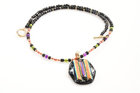 Fused Glass Necklace by Hetty Smith