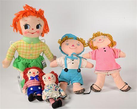 Knickerbocker and Other Raggedy Ann Dolls