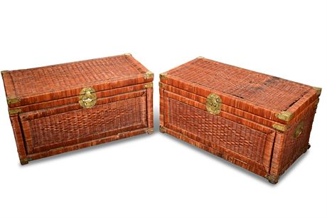 Pair of Wicker Chests