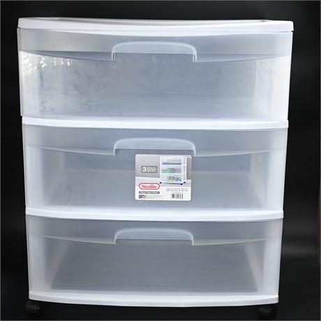 Sterilite (3) Drawer Storage