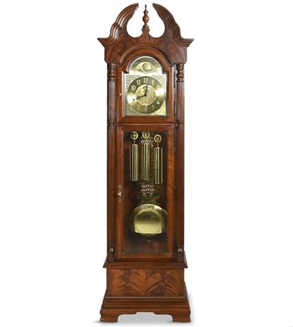 Howard Miller Mahogany Flame Grandfather Clock