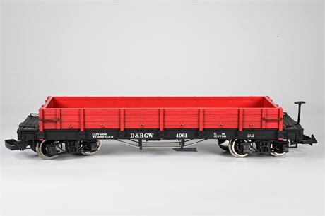 LGB - Lehmann 4061 Low Sided Gondola Car, Denver and Rio Grande Railway