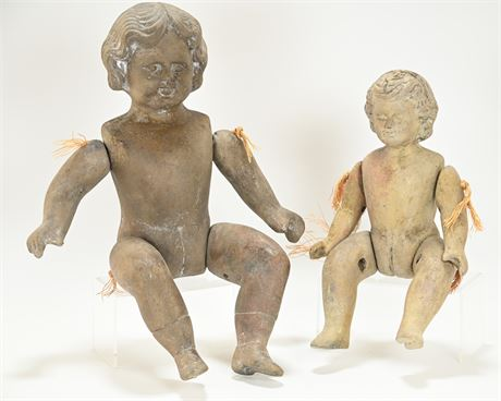 Heavy Jointed Ceramic Dolls