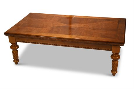 Carved Wood Cocktail Table