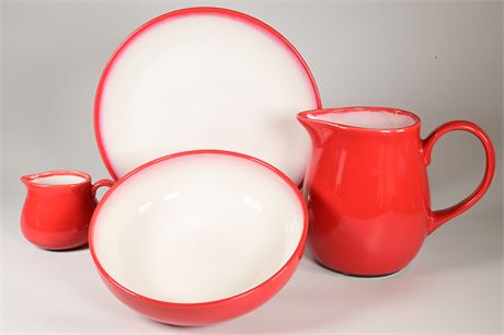 Sango Nova Retro Red (4931) Serving Pieces