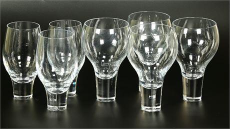Nambé Contour Crystal Wine Glasses