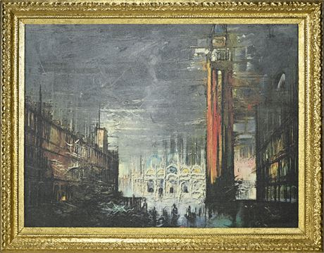 Mid-Century Print on Canvas