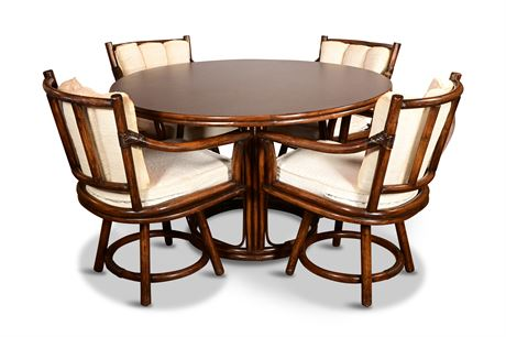Vintage Bamboo and Rattan Dining Set